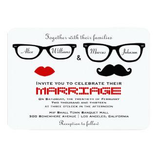 Hipster-Hochzeits-Einladung 12,7 X 17,8 Cm Einladungskarte