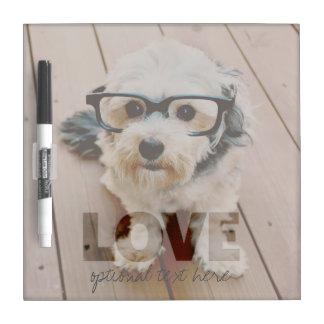 Hipster Instagram Foto-Kunst - Liebe-Farbüberlager Whiteboard