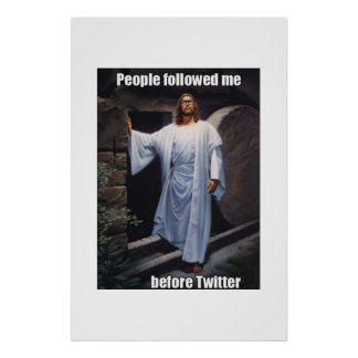 Hipster Jesus Poster