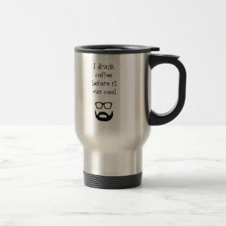 Hipster-Kaffee-Tasse Edelstahl Thermotasse