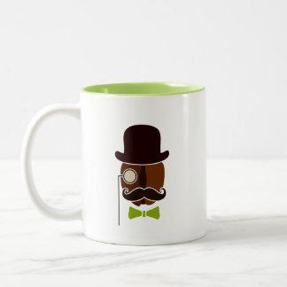 Hipster-Kaffeebohne-Tasse Zweifarbige Tasse