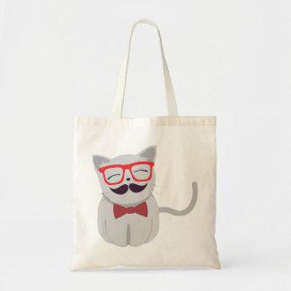 Hipster-Katze Budget Stoffbeutel