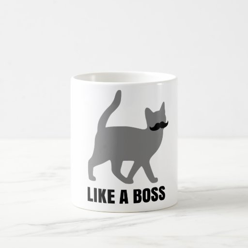 Hipster-Katze mögen einen Chef Tee Tassen