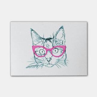 Hipster-Katze Post-it Klebezettel