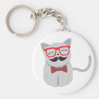 Hipster-Katze Schlüsselbänder