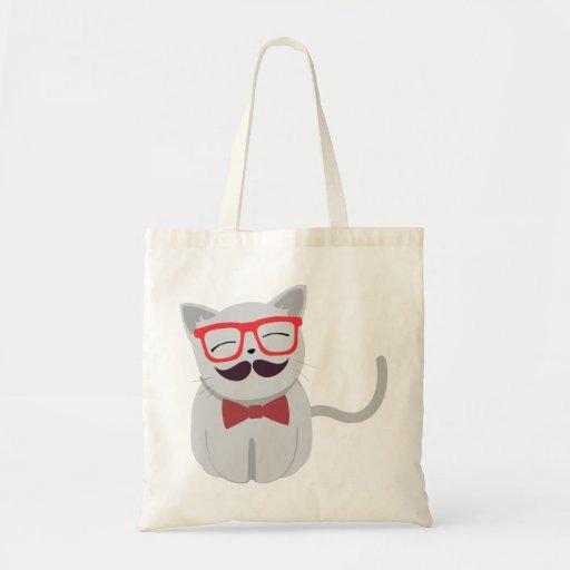Hipster-Katze Einkaufstasche