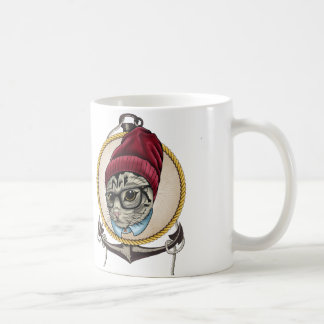 Hipster-Katze Teetasse