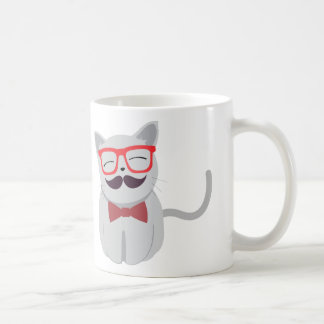 Hipster-Katze Tasse