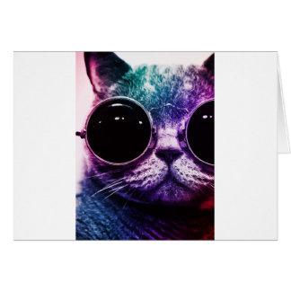 Hipster-Katzen-Pop-Kunst Karte