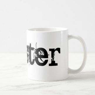 Hipster-Keramik-schwarze u. weiße Tasse