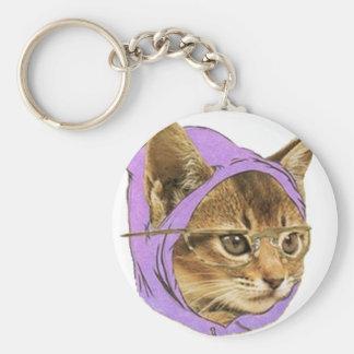 Hipster Kitty Schlüsselanhänger
