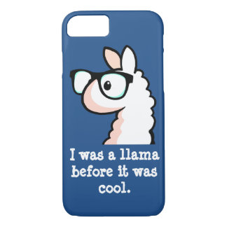 Hipster-Lama iPhone 7 Hülle
