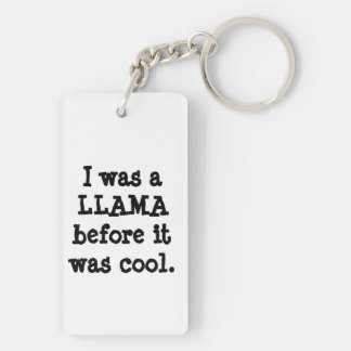 Hipster-Lama Schlüsselanhänger