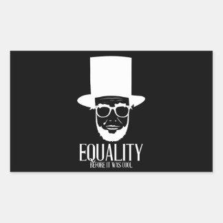 Hipster-Lincoln-Gleichheits-Aufkleber Rechteckiger Aufkleber
