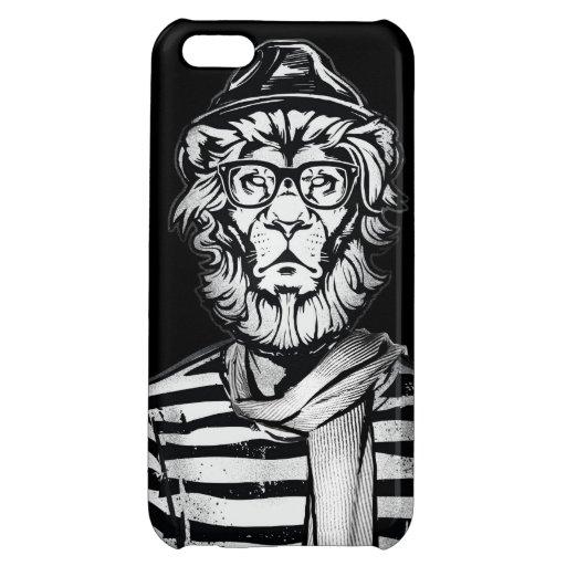 Hipster-Löwe Schwarzweiss iPhone 5C Hülle