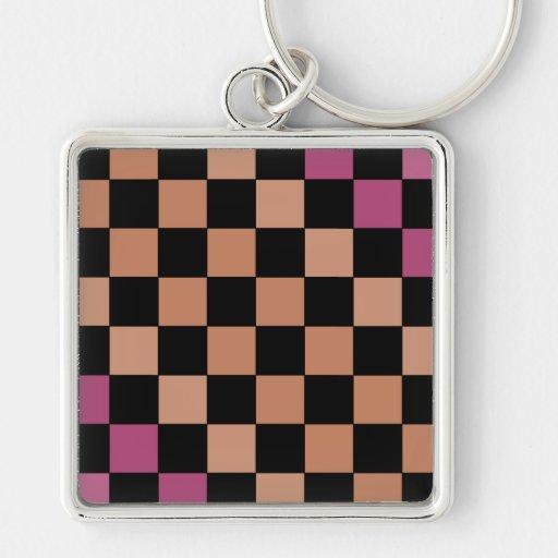 Hipster-modernes Schachbrett CricketDiane Schlüsselanhänger