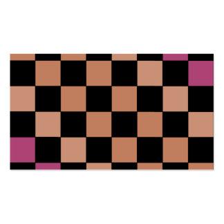 Hipster-modernes Schachbrett CricketDiane Visitenkarten