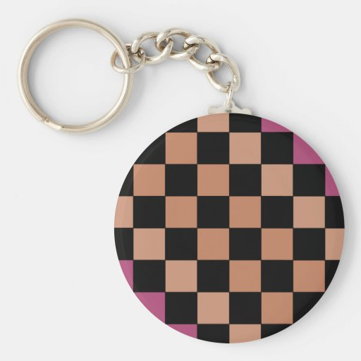 Hipster-modernes Schachbrett Schlüsselbänder
