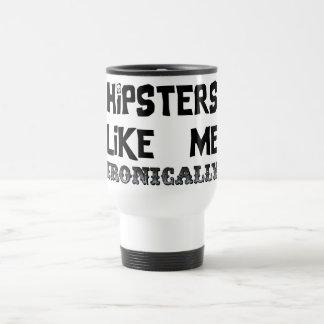 Hipster mögen mich edelstahl thermotasse