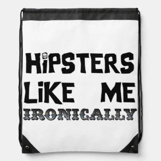 Hipster mögen mich turnbeutel