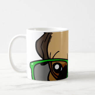 Hipster-Mops-Cartoon Kaffeetasse