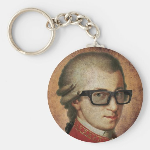 Hipster Mozart Schlüsselband