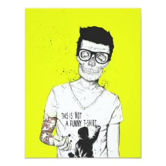 Hipster nicht absolut 10,8 x 14 cm einladungskarte