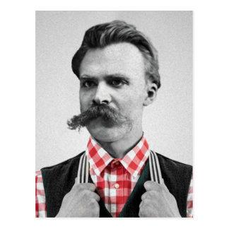 Hipster Nietzsche Postkarte