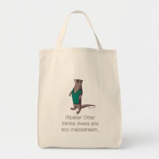Hipster-Otter-Tasche Einkaufstasche