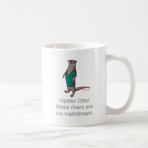Hipster-Otter-Tasse