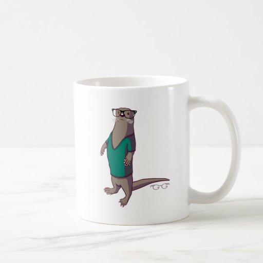 Hipster-Otter-Tasse (ohne Text)