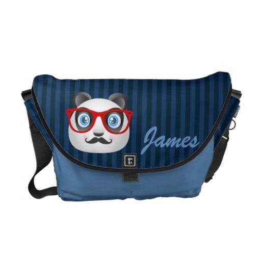 Hipster-Panda-Bote-Tasche Kurier Tasche