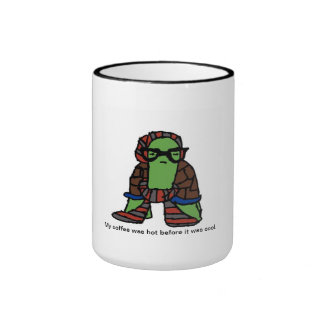 Hipster-Schildkröte-Kaffee-Tasse Ringer Tasse