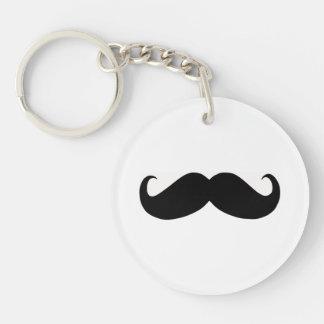 Hipster-Schnurrbart Keychain Einseitiger Runder Acryl Schlüsselanhänger