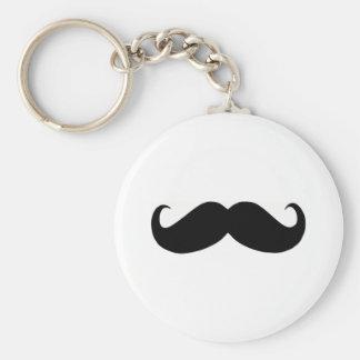 Hipster-Schnurrbart-Knopf Keychain Schlüsselband