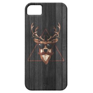 Hipster-Schnurrbart-Rotwild - dunkle Ausgabe iPhone 5 Schutzhüllen