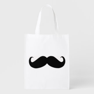 Hipster-Schnurrbart-wiederverwendbare Tasche Wiederverwendbare Tragetasche