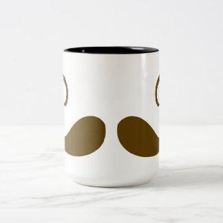 Hipster-Schnurrbart Zweifarbige Tasse
