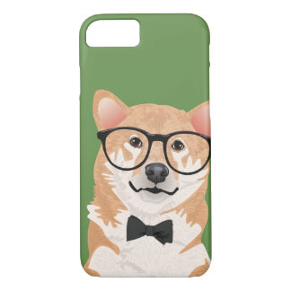 Hipster Shiba Inu Telefon-Kasten iPhone 8/7 Hülle