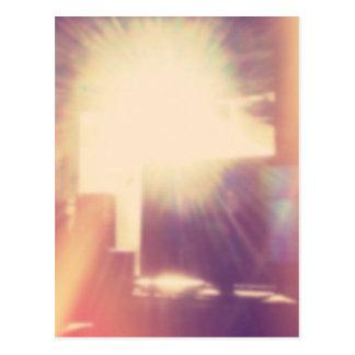 Hipster-Sonnenlicht Postkarte