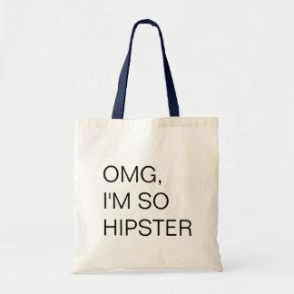 hipster leinentasche