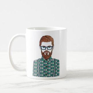hipster tasse