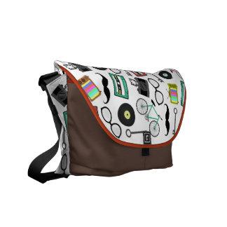 Hipster-Thema-Bote-Tasche Kurier Taschen