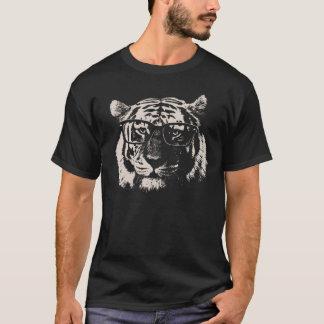 Hipster-Tiger mit Gläsern T-Shirt
