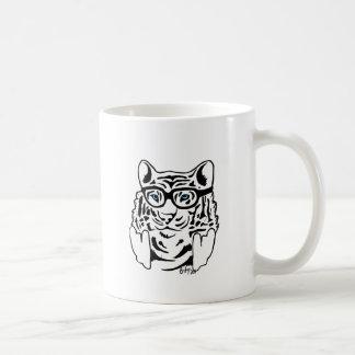 Hipster-Tiger Tasse