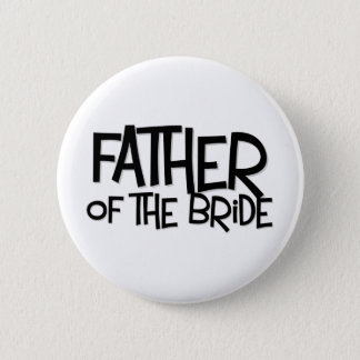 Hipster-Vater-Braut Lite T Runder Button 5,7 Cm