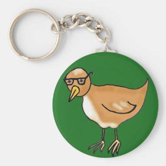 Hipster-Vogel Standard Runder Schlüsselanhänger
