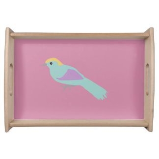 Hipster-Vögel Tablett