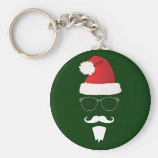Hipster Weihnachtsmann Schlüsselanhänger