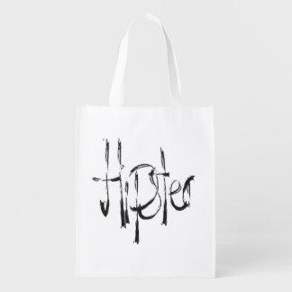 Hipster Wiederverwendbare Einkaufstasche